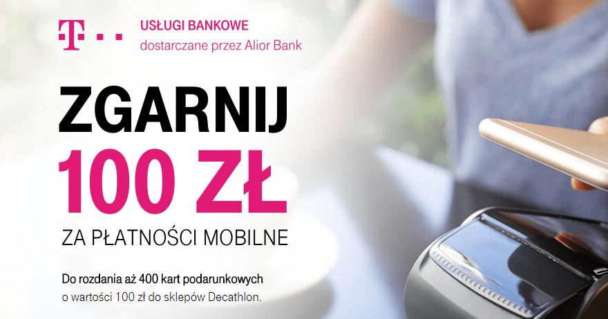 T Mobile Uslugi Bankowe 100 Zl Do Decathlona W Promocji Platnosci